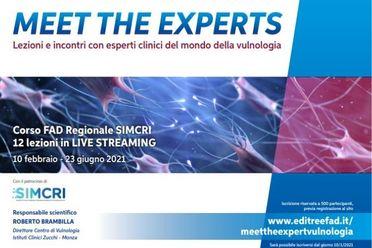 Lezioni e incontri con esperti clinici del mondo della vulnologia
